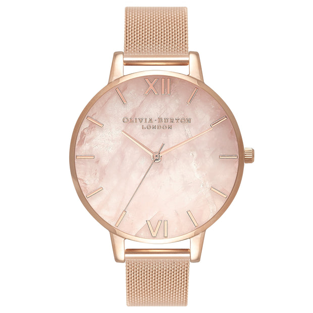 Olivia Burton Semi Precious Rose Gold 38 mm Women's Watches OB16SP01-Olivia Burton-COCOMI Australia