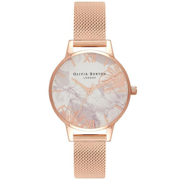 Olivia Burton Abstract Florals Rose Gold 30 mm Women's Watches OB16VM11-Olivia Burton-COCOMI Australia