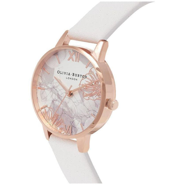 Olivia Burton Abstract Florals Rose Gold 30 mm Women's Watches OB16VM12-Olivia Burton-COCOMI Australia