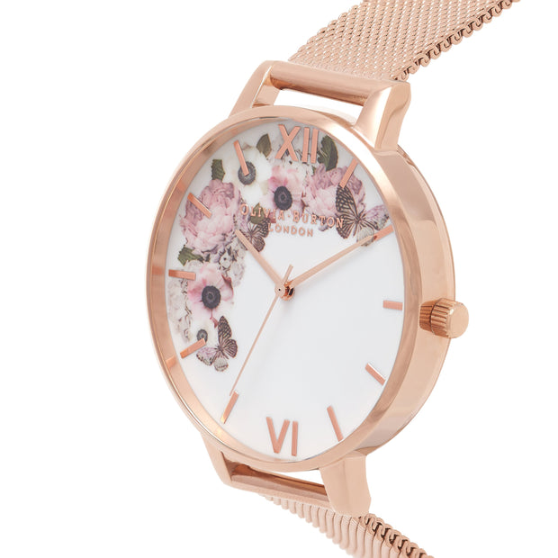 Olivia Burton Signature Florals Rose Gold 38 mm Women's Watches OB16WG18-Olivia Burton-COCOMI Australia