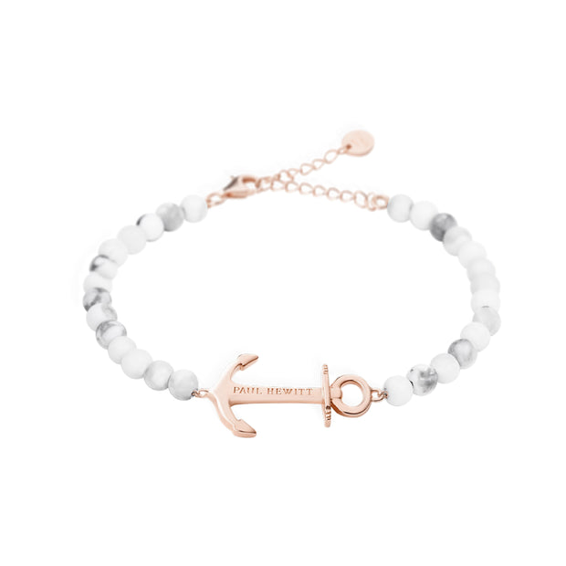Paul Hewitt Bracelet Anchor Spirit Marble IP Rose Gold One Size  (39 - 44 cm) Women's AccessoriesPH-ABB-R-M-Paul Hewitt-COCOMI Australia