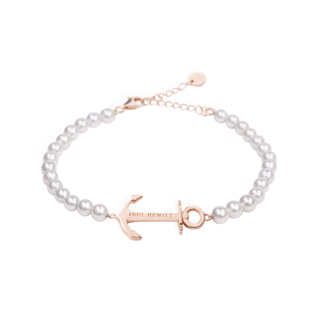 Paul Hewitt Bracelet Anchor Spirit Pearl IP Rose Gold One Size  (39 - 44 cm) Women's AccessoriesPH-ABB-R-P-Paul Hewitt-COCOMI Australia