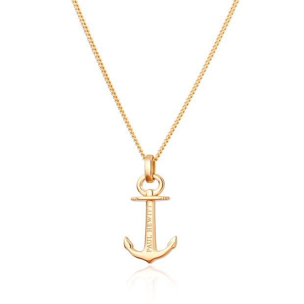 Paul Hewitt Necklace Anchor Spirit Plated Gold One Size  (39 - 44 cm) Women's AccessoriesPH-AN-G-Paul Hewitt-COCOMI Australia