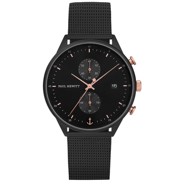 Paul Hewitt Chrono Line Black 42 mm Men's Watches PH-C-B-BSR-5M-Paul Hewitt-COCOMI Australia