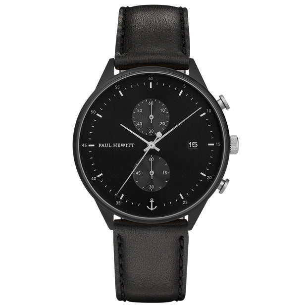Paul Hewitt Chrono Line Black 42 mm Men's Watches PH-C-B-BSS-2M-Paul Hewitt-COCOMI Australia