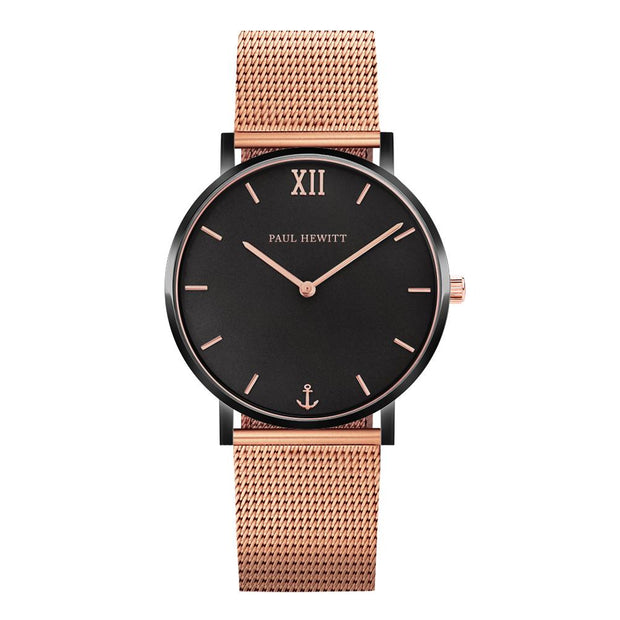 Paul Hewitt Sailor Line black/golden,rose 39 mm Unisex Watches PH-SA-B-BSR-R5S-Paul Hewitt-COCOMI Australia