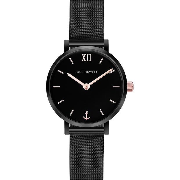 Paul Hewitt Sailor Line Black 28 mm Unisex Watches PH-SA-B-XS-BSR-45S-Paul Hewitt-COCOMI Australia