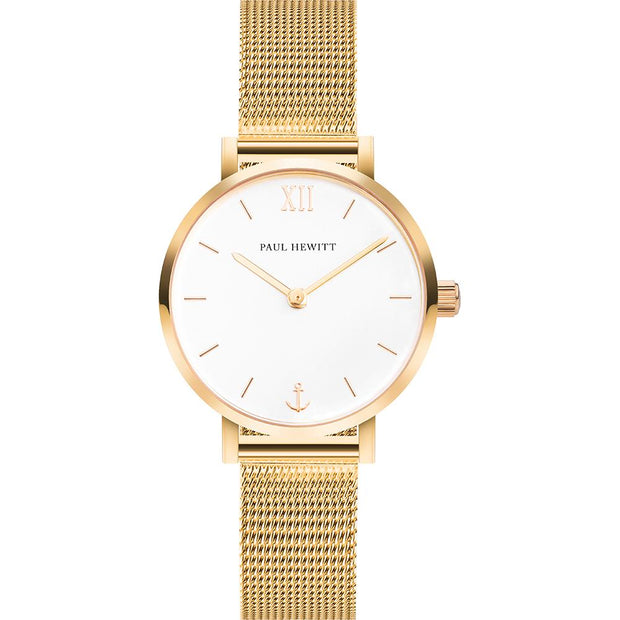 Paul Hewitt Sailor Line Gold 28 mm Women's Watches PH-SA-G-XS-W-45S-Paul Hewitt-COCOMI Australia