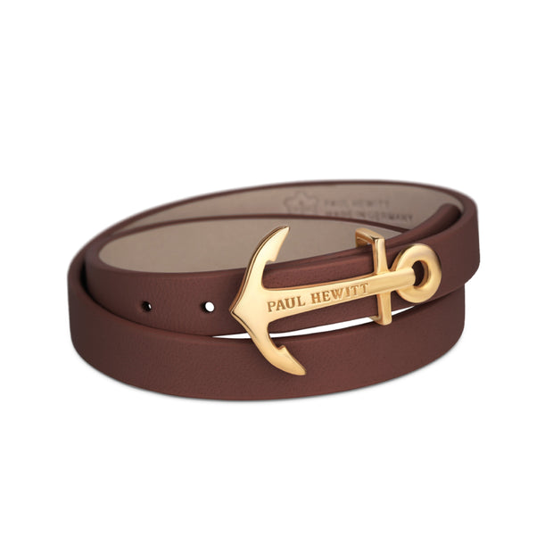 Paul Hewitt Wrap Bracelet North Bound IP Gold Brown 42.5 cm Unisex's AccessoriesPH-WB-G-1M-Paul Hewitt-COCOMI Australia