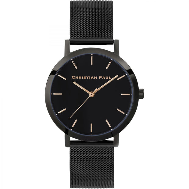 Christian Paul Moonlight Black 35 mm Unisex's Watches RBB3518 - Christian Paul