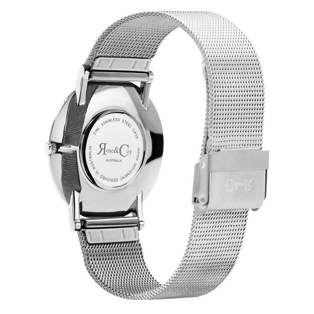 Rose & Coy Pinnacle Silver 40mm Men's Watches RC0902-Rose&Coy-COCOMI Australia