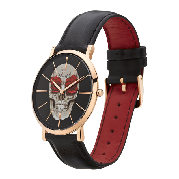 Rose & Coy Art Series Skull Rose Rose Gold 40mm Women's Watches RCA0101-Rose&Coy-COCOMI Australia