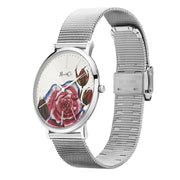 Rose & Coy Art Series Pink Rose Silver 40mm Unisex's Watches RCA0202