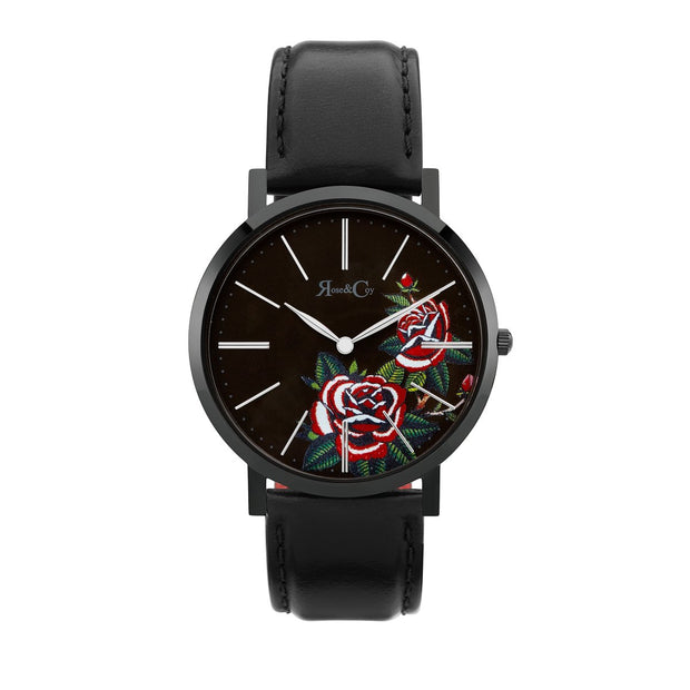 Rose & Coy Red Rose Black 40mm Women's Watches RCA1101-Rose&Coy-COCOMI Australia