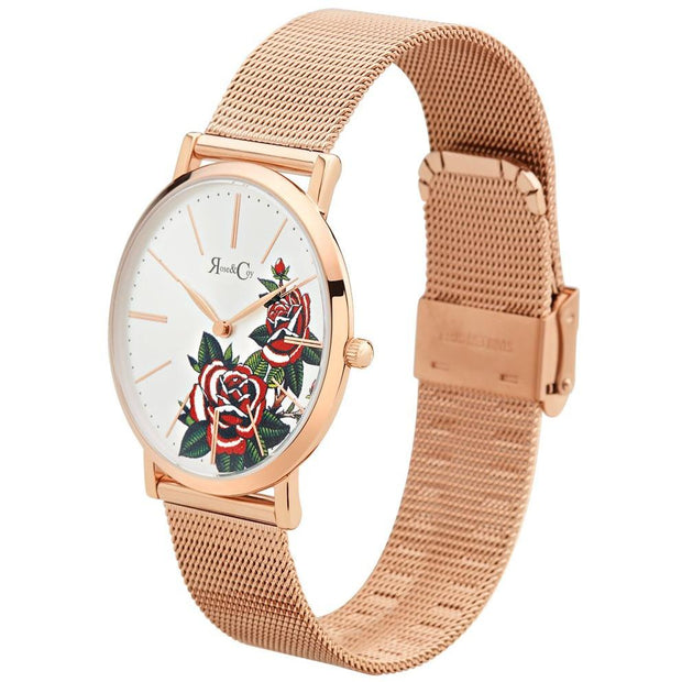 Rose & Coy Red Rose Rose Gold 40mm Women's Watches RCA1102-Rose&Coy-COCOMI Australia