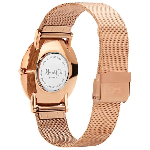 Rose & Coy Red Rose Rose Gold 40mm Unisex's Watches RCA1102