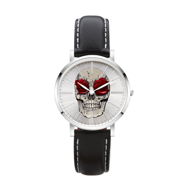 Rose & Coy Art Series Skull Rose Silver 34mm Women's Watches RCAM0102-Rose&Coy-COCOMI Australia