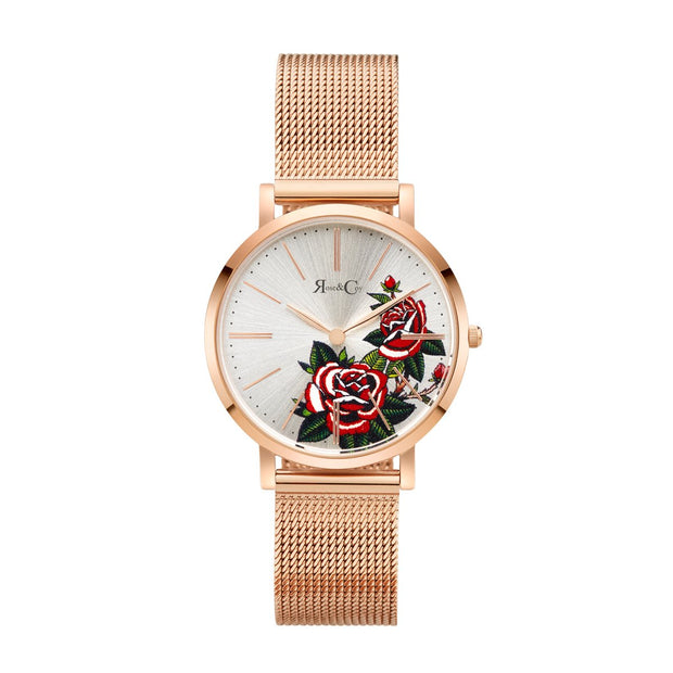Rose & Coy Red Rose Rose Gold 34mm Women's Watches RCAM1102-Rose&Coy-COCOMI Australia