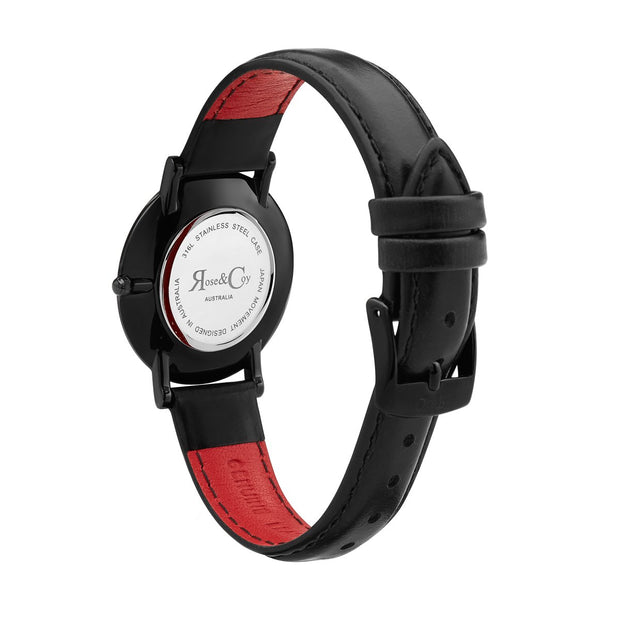 Rose & Coy Midnight Rose Sugar Black 34mm Women's Watches RCAM1201-Rose&Coy-COCOMI Australia