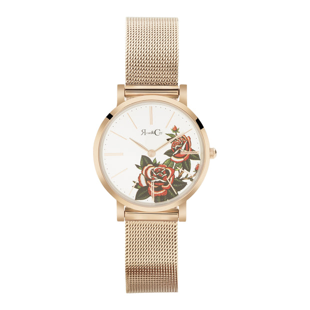 Rose & Coy Red Rose Rose Gold 30mm Women's Watches RCAP1102-Rose&Coy-COCOMI Australia