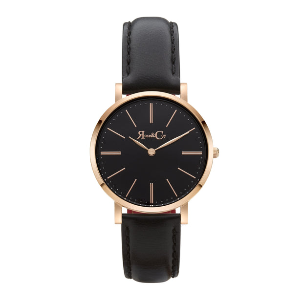 Rose & Coy Mini Pinnacle Rose Gold 34mm Unisex's Watches RCM0103