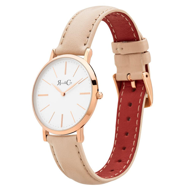 Rose & Coy Mini Pinnacle Rose Gold 34mm Unisex's Watches RCM0301