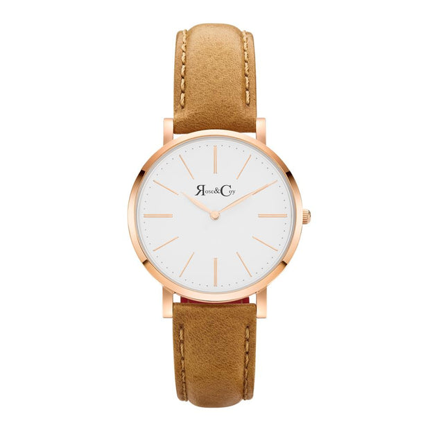 Rose & Coy Mini Pinnacle Rose Gold 34mm Unisex's Watches RCM0401