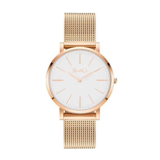 Rose & Coy Mini Pinnacle Rose Gold 34mm Unisex's Watches RCM0901