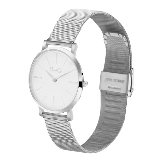 Rose & Coy Mini Pinnacle Silver 34mm Unisex's Watches RCM0902