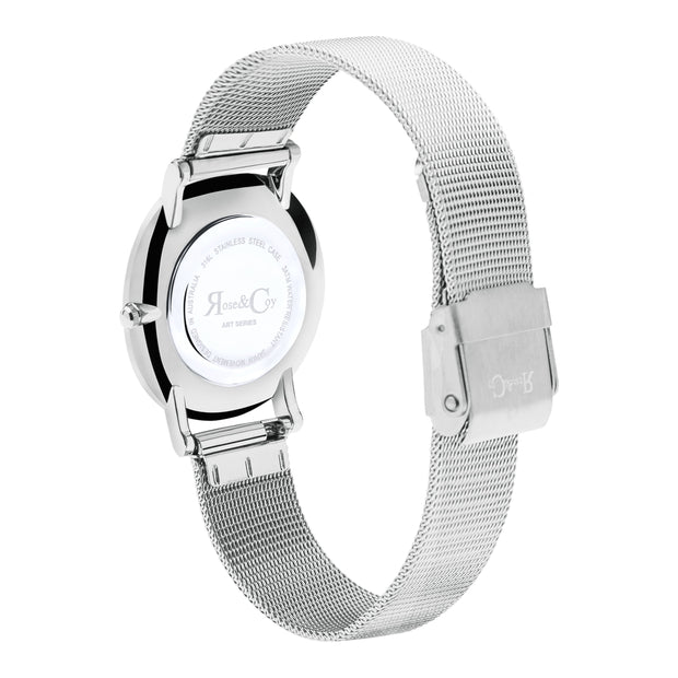 Rose & Coy Mini Pinnacle Silver 34mm Women's Watches RCM0902-Rose&Coy-COCOMI Australia