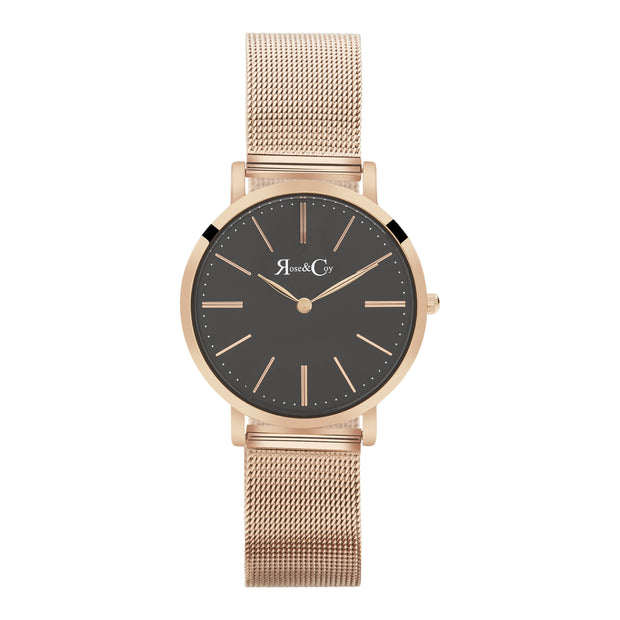 Rose & Coy Mini Pinnacle Rose Gold 34mm Unisex's Watches RCM0903