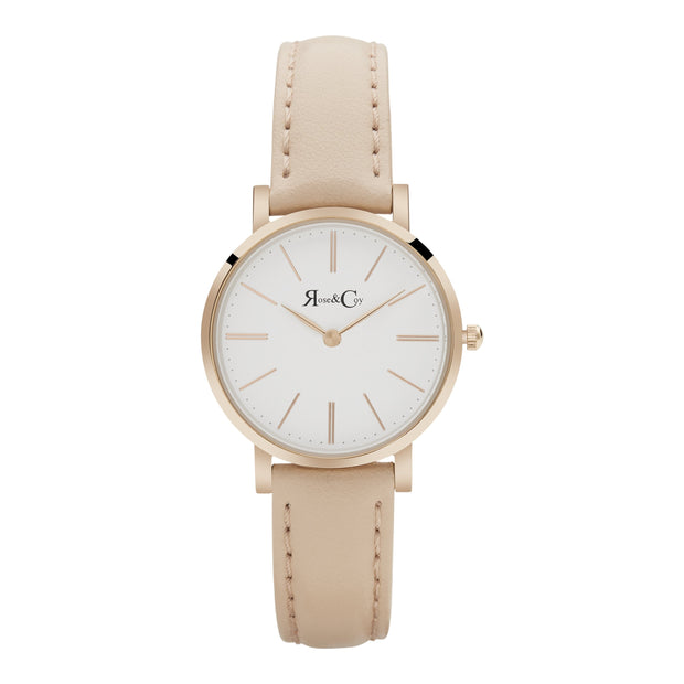 Rose & Coy Petite Pinnacle Rose Gold 30mm Women's Watches RCP0301
