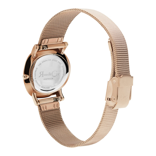 Rose & Coy Petite Pinnacle Rose Gold 30mm Women's Watches RCP0901