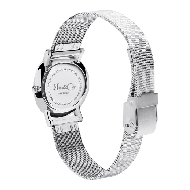 Rose & Coy Petite Pinnacle Silver 30mm Women's Watches RCP0902-Rose&Coy-COCOMI Australia