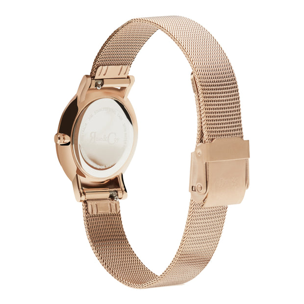 Rose & Coy Petite Pinnacle Rose Gold 30mm Women's Watches RCP0903