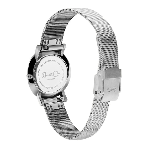 Rose & Coy You Had Me At Hello Silver 30mm Women's Watches RCP1002-Rose&Coy-COCOMI Australia