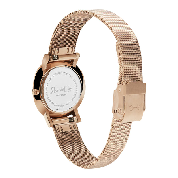 Rose & Coy Friends Are Like Diamonds Rose Gold 30mm Women's Watches RCP1011-Rose&Coy-COCOMI Australia