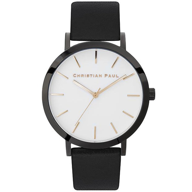 Christian Paul Raw Rocky Black 43 mm Women's Watches RWB4301 - Christian Paul