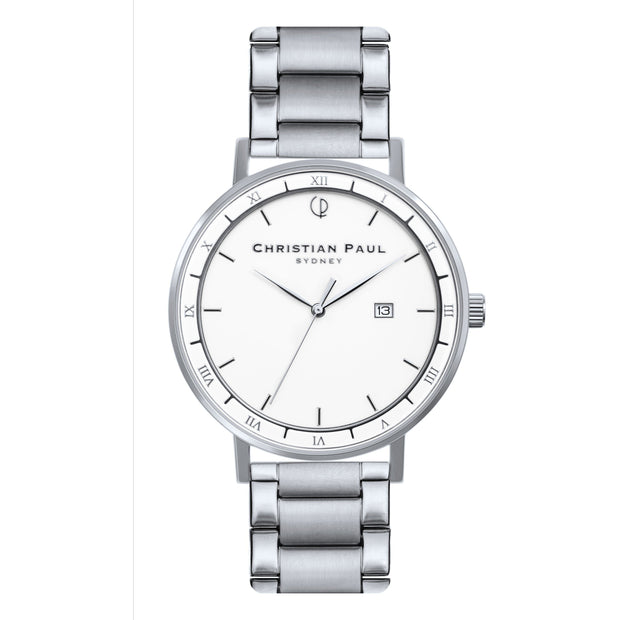 Christian Paul The Traveller Silver 43 mm Unisex's Watches AWS4324 - Christian Paul