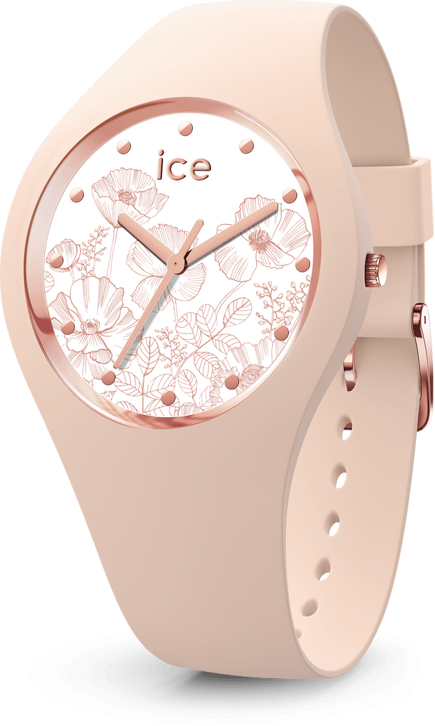 ICE WATCH Flower Collection Rose Gold Case 40mm (M) White Dial Pink Nude Strap-COCOMI Australia