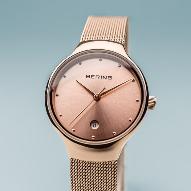 Bering Classic Polished Rose Gold 26mm Watch-COCOMI Australia