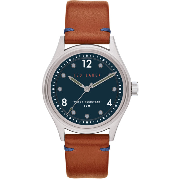 Ted Baker Beleeni Blue Dial Tan Watch-COCOMI Australia