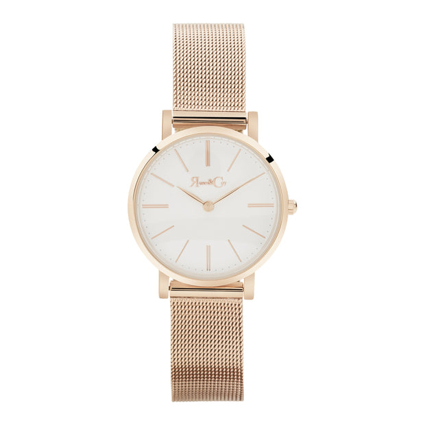 Petite Pinnacle Ultra Slim 30mm Rose Gold | Mesh Strap Watch-COCOMI Australia
