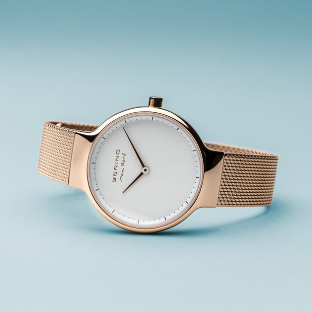 Bering Max René Polished Rose Gold Watch-COCOMI Australia