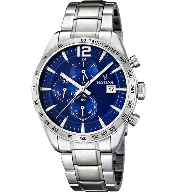 Festina TImeless Chrono Blue Watch-COCOMI Australia