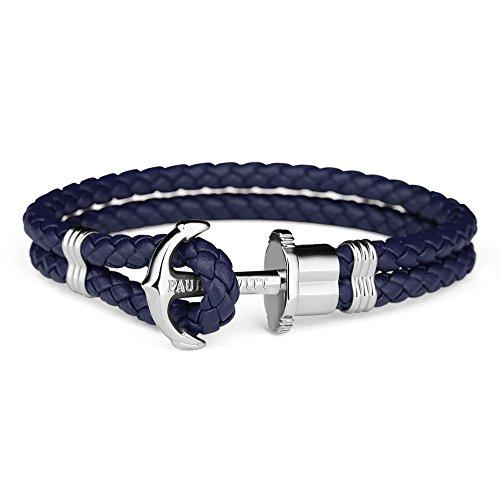 Paul Hewitt Anchor Bracelet PHREP Stainless Steel Navy Blue XL (20 cm)-COCOMI Australia