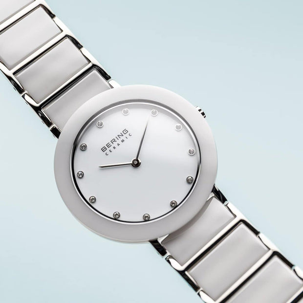 Bering Ceramic Pure White Watch-COCOMI Australia