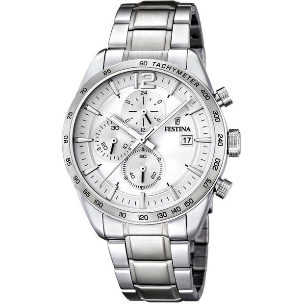 Festina Timeless Chrono Silver 43 mm Men's Watches F16759/1 - COCOMI Australia