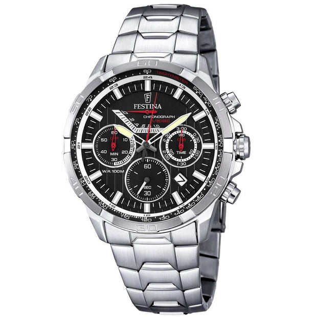 Festina Timeless Chrono Silver 44 mm Men's Watches F6836/4 - COCOMI Australia