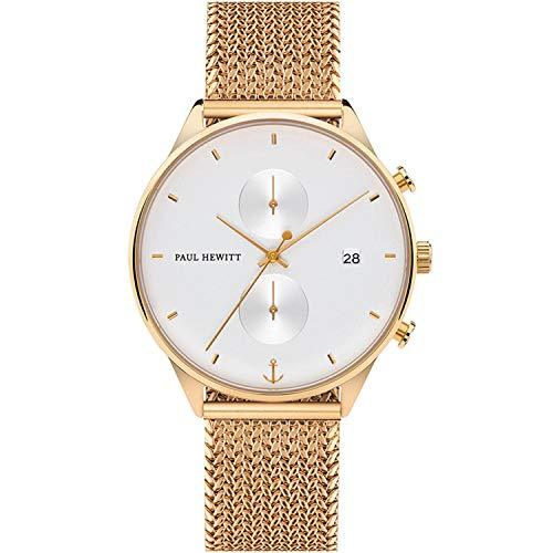 Paul Hewitt White Sand Woven Gold Watch